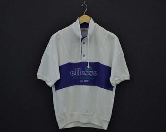 Ellesse Sweatshirt Vintage Ellesse Pullover 90s Ellesse Vintage Tennis Sweat Mens Size S