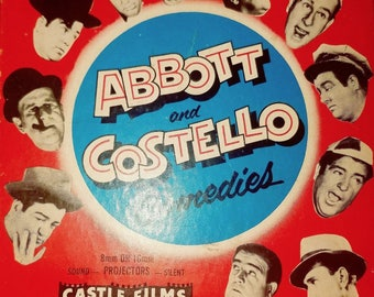 "Vintage Castle Films Abbot and Costello ""No Indians Please"" 808 8MM Film"