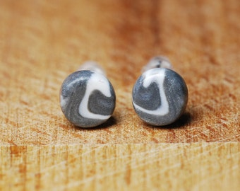 Teeny Earrings - Tiny Stud Earrings - Polymer Clay Earrings - Cute Earrings - Hypoallergenic Earrings For Sensitive Ears - Fimo Jewellery -