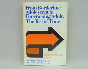 1980 From Borderline Adolescent to Functioning Adult: The Test of Time - James F Masterson - Vintage 1980s Psychology Book