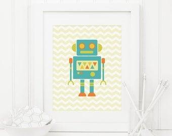 Robot printable etsy for Robot room decor