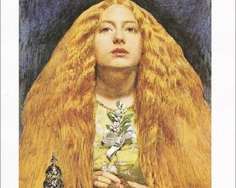 The Bridesmaid John E Millais fine art print Pre-Paphaelite english painting vintage Victorian