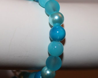 Blue Pearl Bracelet, Blue Pearl Jewelry, Blue Beaded Bracelet, Blue Beaded Jewelry, Jewelry Blue Pearls, Bracelet Blue Pearls, Blue Pearls