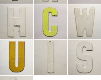 Vintage Metal Letters | Marquee Signage | Industrial | Store Signs | Wedding Initials | Giant Letters