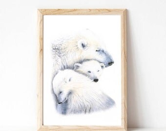 home decor, wall decor, art prints, polar bear, nursery art, wall art, modern nursery, childrens art prints, nursery artwork