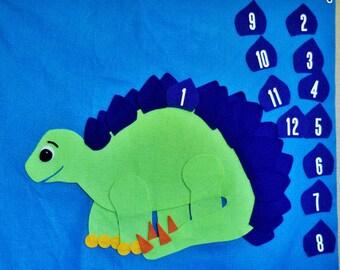 Dinosaur Party Reusable Felt Pin the Spike on the Dinosaur Party Game