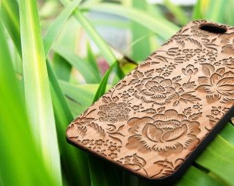 Rose- personalized Custom Name Wood iPhone SE case Wood iPhone 7 Case iPhone 6S Case wood iphone 6 case
