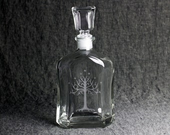 The White Tree of Gondor Decanter with Glass Stopper   Lord of The Rings