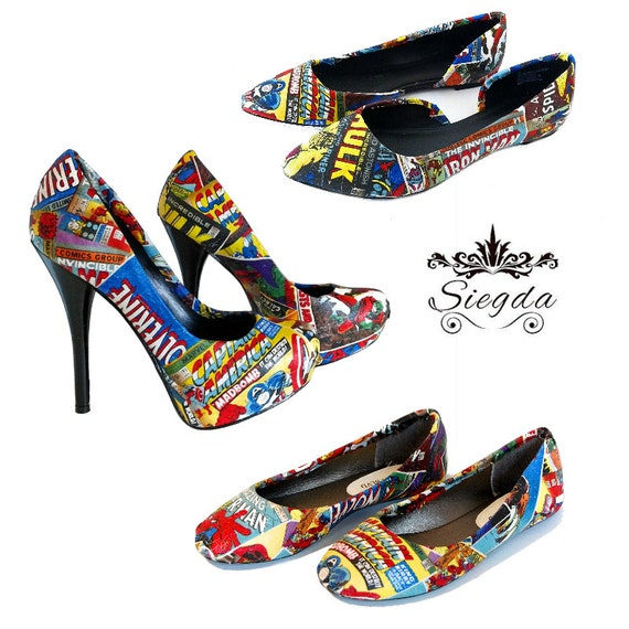 Retro Comic Book Inspired Choose Your Style Wedding Shoes