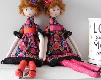 Rag dolls, twin dolls, art dolls , twins, rag doll, cloth dolls, dolls, fabric dolls, art dolls, cloth doll twins, doll twins,