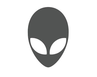 Alien Decal, Car Decal, Laptop Decal, Yeti Decal, Vinyl Decal