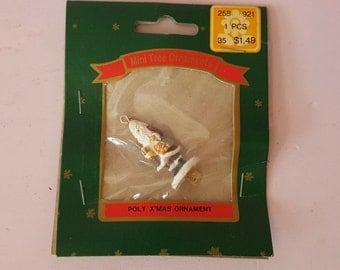 Miniature Dollhouse Santa Claus Ornament Christmas Tree Holiday St Nick St Nicholas Statue Figure Figurine NIB NOS FS