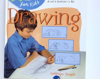 Art for Kids Drawing Art Book Drawing Lessons Tutorial Art Instructions Young Artist Gift How to Draw Ideas Crafting Book Artsy Kid Gift
