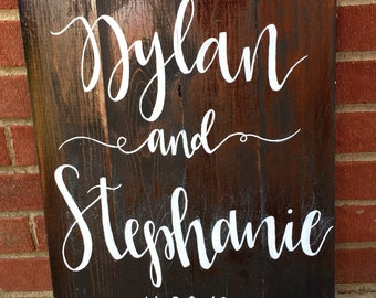 Wooden Couples Sign