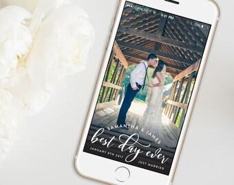 Snapchat Wedding Geofilter | Customized Wedding Geofilter | Snapchat Geofilters | EDN 5257