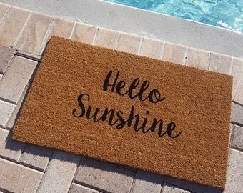 Hello Sunshine Doormat | Summer Doormat | Summer Decor | Welcome Mat | Hello Beautiful | Porch Decor | Greetings