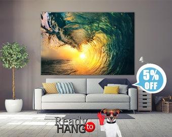 Ocean canvas print, Ocean waves, Waves canvas art, Wave wall art, Canvas wrap, Ocean canvas art, Wave canvas, Wave print, Ocean wave canvas