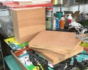 SIX Cradled Panels Wooden Boxframe Art Substrate for Mixed Media and Encaustic Paintings(East coast shipping prices my apply)