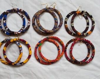 hoop drop african prints earrings