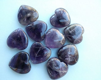 Amethyst Heart Gemstone Amethyst Crystal Heart