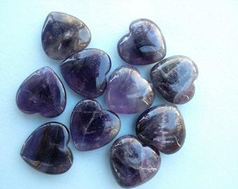 Amethyst Heart Gemstone Amethyst Crystal Heart