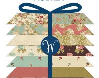 Half Yard Bundle  - AUBREY -  Windham Fabrics  17 pieces