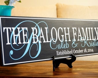 Personalized Family Name Sign, Last Name Sign, Family Established Sign, Hand Painted Sign 7 x 22