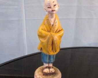 Vintage Depose Italy Figurine Monk Boy