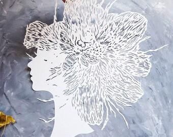 paper cut artwork hand cut out paper original art