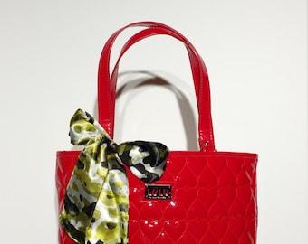 Handbag Scarf: Cameoflauge Charmuese Satin Pretty handbag Scarf