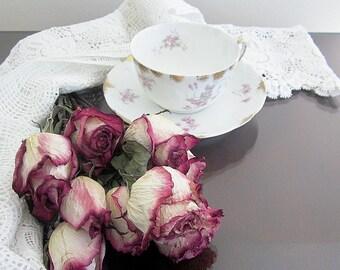 Elegant Limoges Cup And Saucer Fine Porcelain 1896 - 1919  L Sazerat Design Pfeiffer Crockery Co Peoria IL Victorian Edwardian Era Teacup