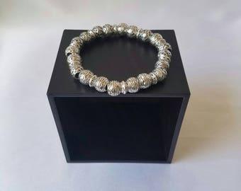 Silver Plated Bracelet/Beaded Bracelet