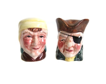 Pirate Salt and Pepper Shakers, Vintage Pirates, Pirate Home Decor