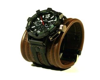 "Mens wrist watch ""Rover-2"". Leather bracelet. Steampunk watch. Women wrist watch. Vintage watches Armbanduhr"
