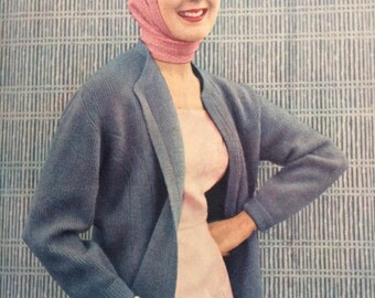 Vintage Vogue Knitting Book Magazine No 48 1956 vintage knitting patterns