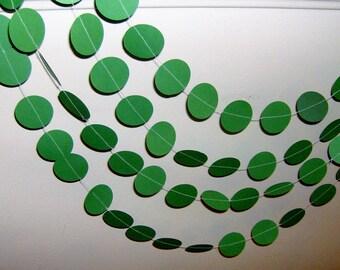 Green Circles, Circles Garland, Baby, Birthday, Party Decor, Circles, Happy Birthday, Bridal Shower, Wedding, 2 inch circle garland
