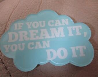 Dream cloud,  themed resin needleminder  magnet