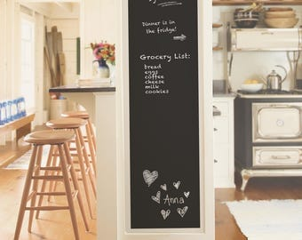 Peel and Stick Vintage Farmhouse DIY Chalkboard Black Wallpaper NU2220