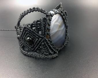 Agate bracelet macrame