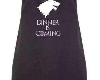 Black Game of Thrones Inspired Dinner is Coming Apron