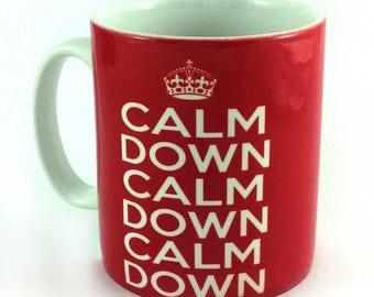 New Calm Down, Calm Down, Calm Down Scousers 11oz gift mug cup present