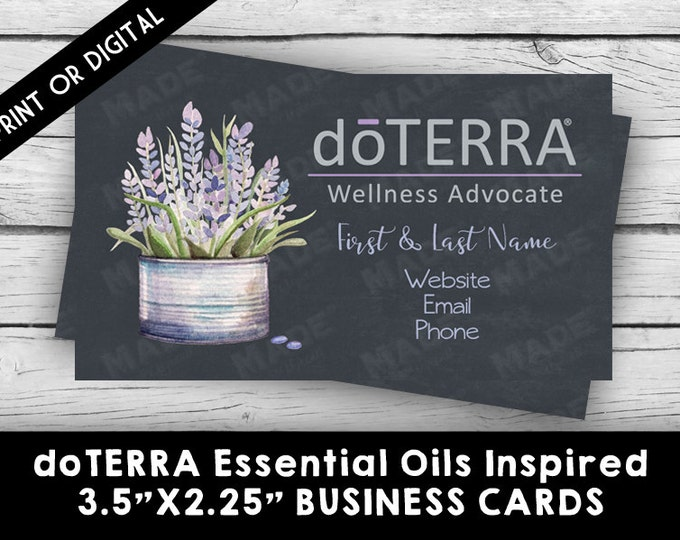 DIGITAL-doTERRA ESSENTIAL OILS Lavender Business Card, Marketing Tools, Printable, Business Stationery, Calling Cards, Direct Sales