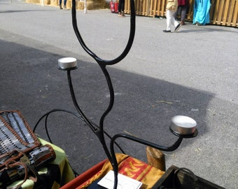 Wrought iron candelabra