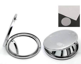 To customize Pocket mirror + cabochon sticker 5.7 cm