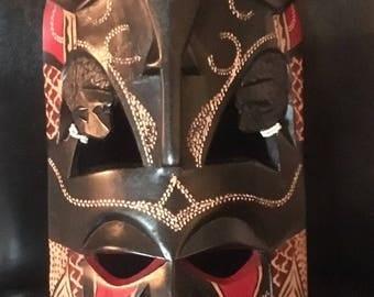 African handmade mask/African treasure handmade mask,Maasai Mask face, Halloween Masks, African masks, wood masks, collectibles mask