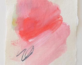 Spring 3 ...Original abstract art  spring painting on paper flower modern art paper