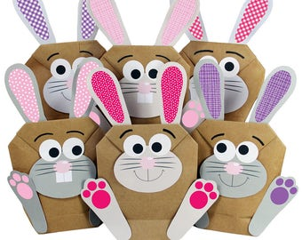 12 DIY Easter Bunny for itself crafting and filling - in Pink for girls at Easter