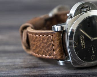 Handmade Watch Band Leather Watch Band For Panerai Watch