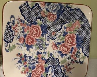 Vintage Japanese Square Platter