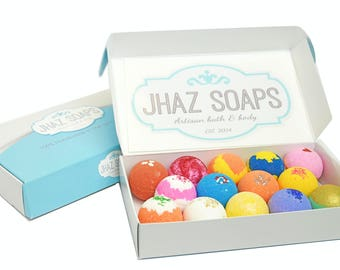 GIFT SET Bath bomb fizzy lot of 14 assorted sensitive skin choose your scent super moisturizing like lush handmade dry skin 2.5 oz.